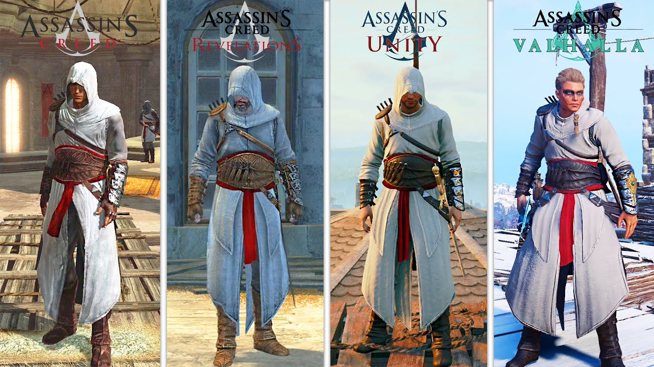 Altair's Outfit in Every Assassin's Creed (PC Officially Released)