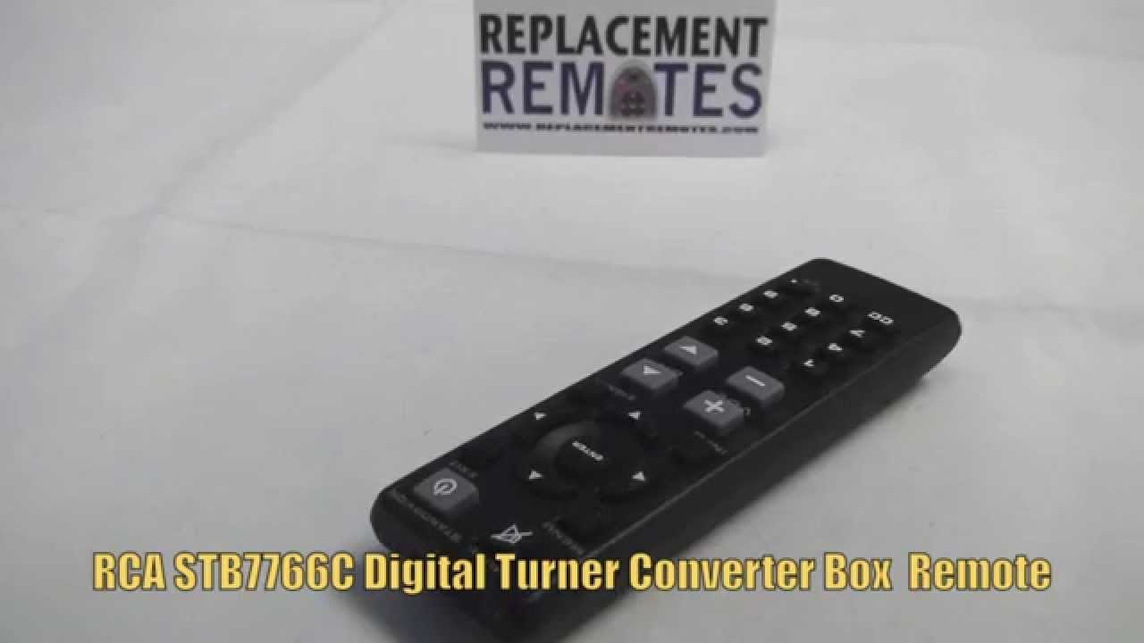 RCA STB7766C REMOTE Digital TV Tuner Converter Box Remote - .ReplacementRemotes.com - YouTube & RCA STB7766C REMOTE Digital TV Tuner Converter Box Remote - www ... Aboutintivar.Com
