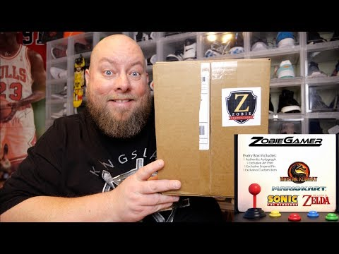 CHECK OUT This Zobie GAMER Mystery Box Unboxing + Autograph Mario Zelda Mortal Kombat & More