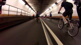 Bike MS NYC 2013 - Holland Tunnel Westbound