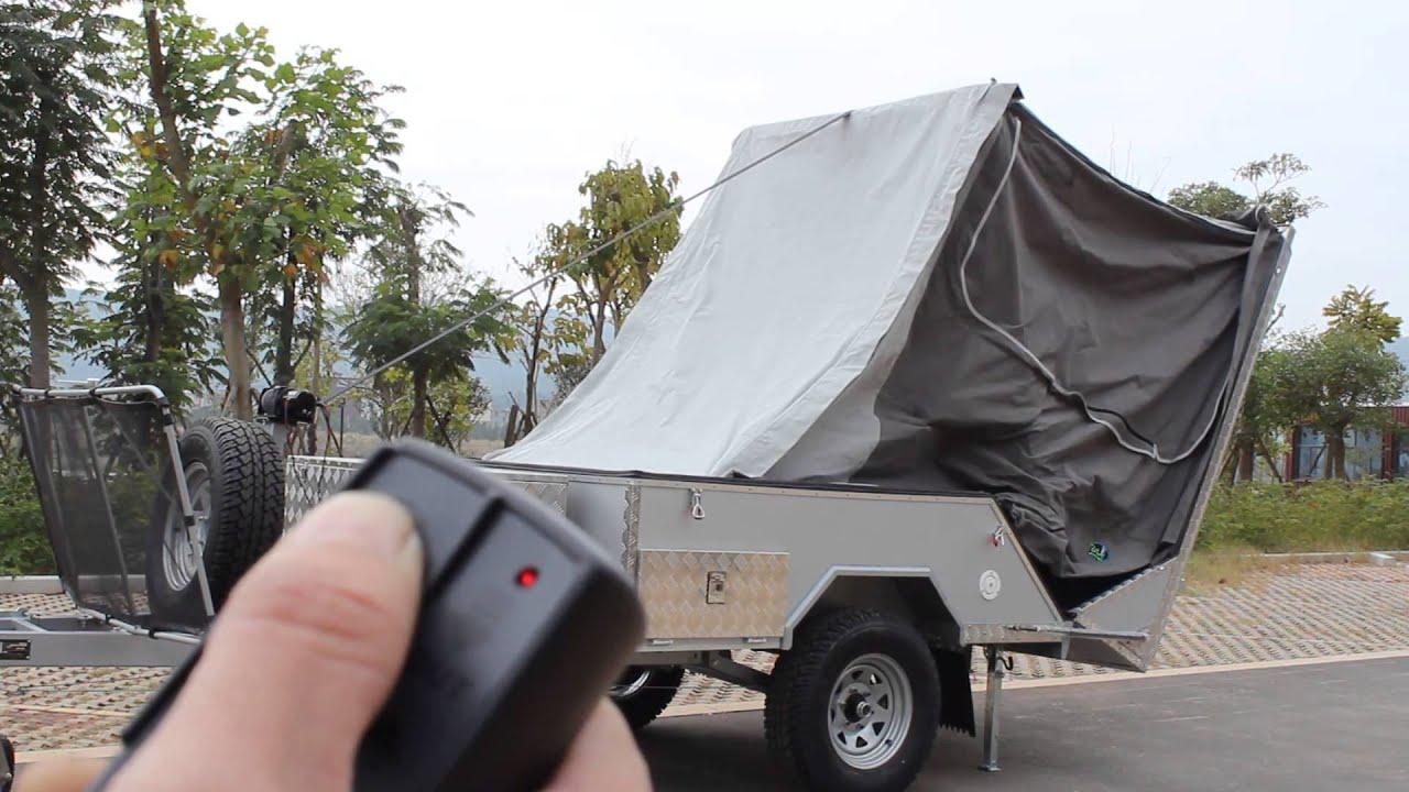 Automatic set up hard floor camper trailer  YouTube