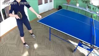 Лёгкие кручёные подачи в настольном теннисе! #3