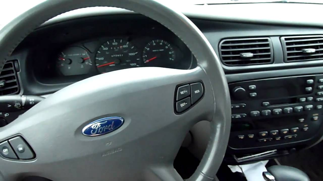 2002 ford taurus sel cold start - youtube