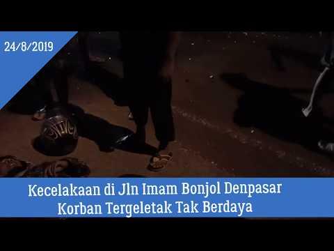 Kecelakaan Di Denpasar Bali Tadi Malam Korban Tergelatak Tak Berdaya