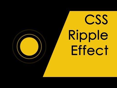 css ripple effect | Nikkies Tutorials