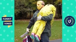 TRY NOT TO LAUGH - Funny HALLOWEEN VIDEOS \u0026 SCARE CAM