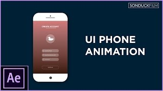 After Effects Tutorial: UI Phone App Animation - Motion Graphics