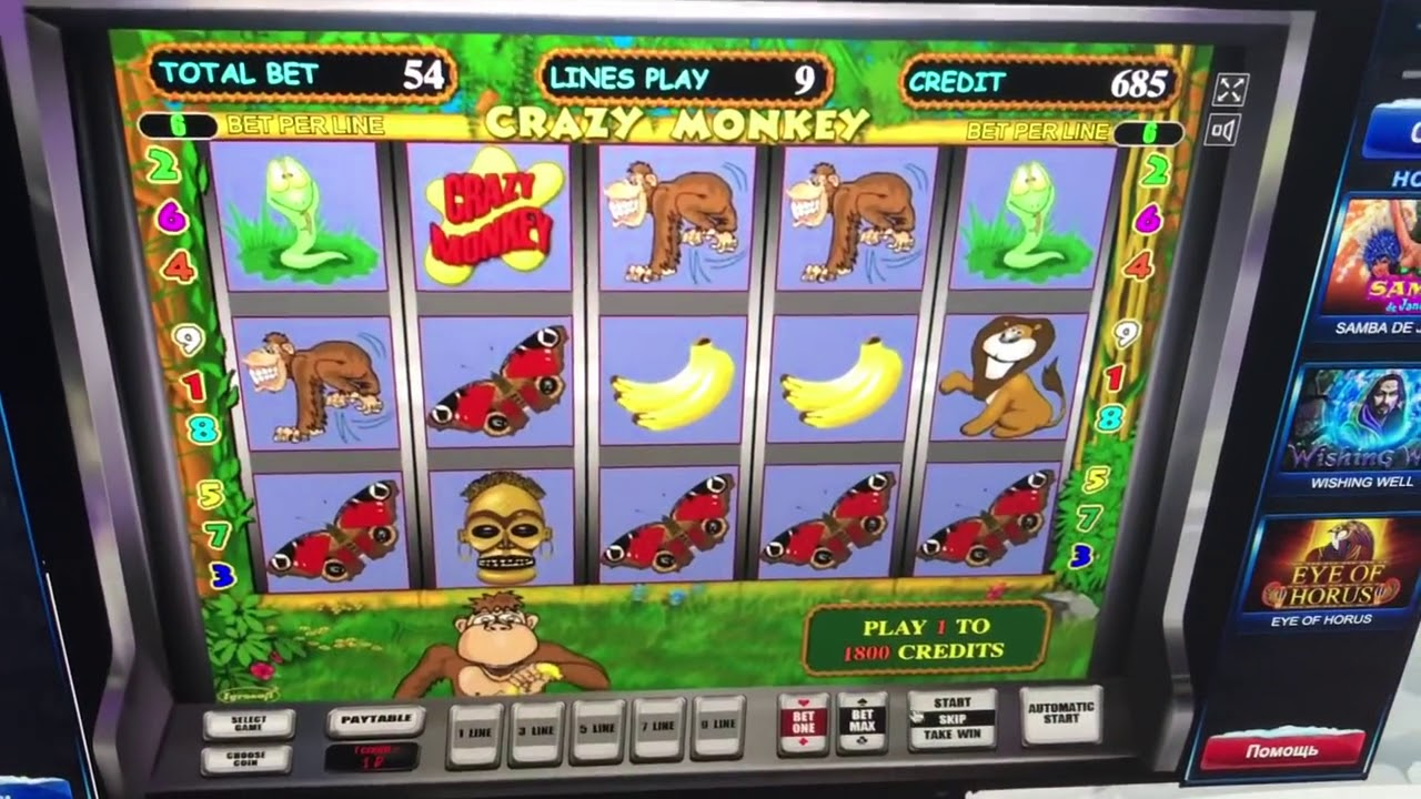 Как выиграть в автоматы crazy monkey / Демо