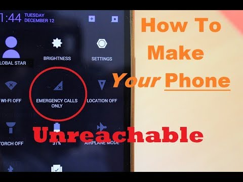 How To Make Phone Unreachable With Network (Full Signal) Works 100%