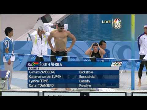 8th Gold [2008 Beijing Olympics] Swimming Men's 4 x 100m Medley Relay.mp4