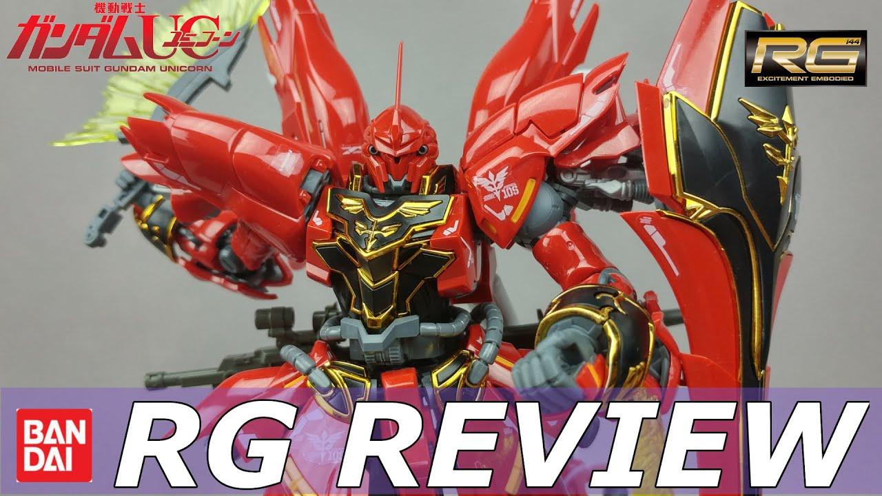 Rg Sinanju Review And Unboxing Gundam Unicorn 1 144 Real Grade Youtube Bandai Hgoo Gnt 0000 00 Qant Qanta