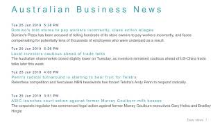 Business News Headlines for 25 Jun 2019 - 6 PM Edition