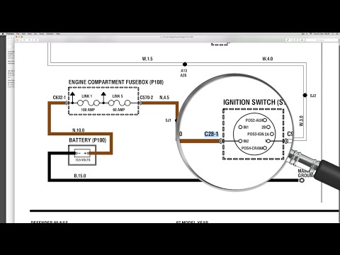 use the electrical library with the wiring diagram - understanding land  rover wiring diagrams - youtube