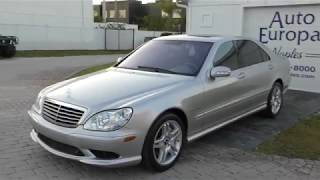 This 2003 Mercedes-Benz S 55 AMG is a Supercharged, 493HP German Q-Ship