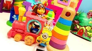 Gioca imparando i colori con la DORA l'esploratrice e Minions Stuart !