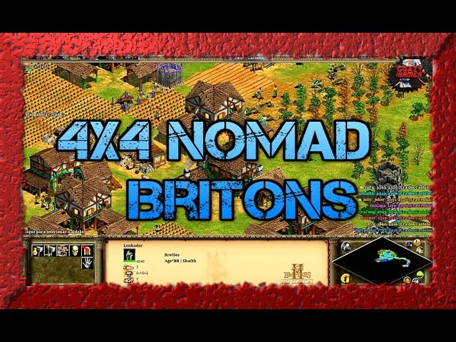 Age of Empires 2 HD 4x4 Nomad Britons AoE2HD Gameplay PT BR