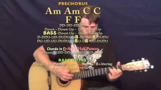 Bored to Death Blink 182 Guitar Lesson Chord Chart   Am C F G