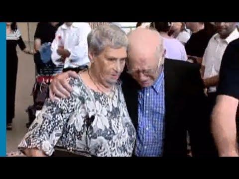 פגישה נרגשת בין אח ואחות שהופרדו במהלך השואה