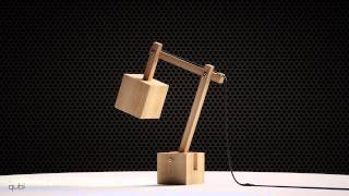 Qubi Wooden Desk Lamp