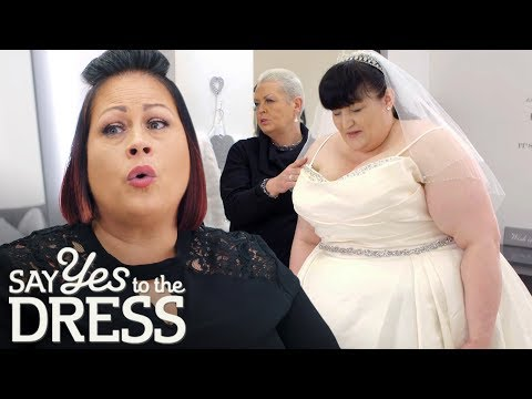 The Bride Is Shaking In Fear Of Not Fitting In Any Dress! | Curvy Brides Boutique