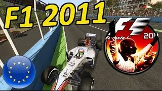 Lets Play F1 2011: European Grand Prix Valencia