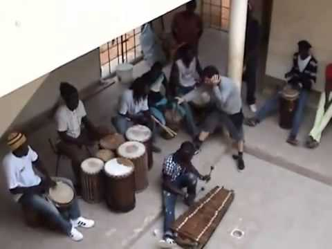 Grabación del grupo senegalés  Africa Teranga  Dakar   Proyecto Causas Comúns
