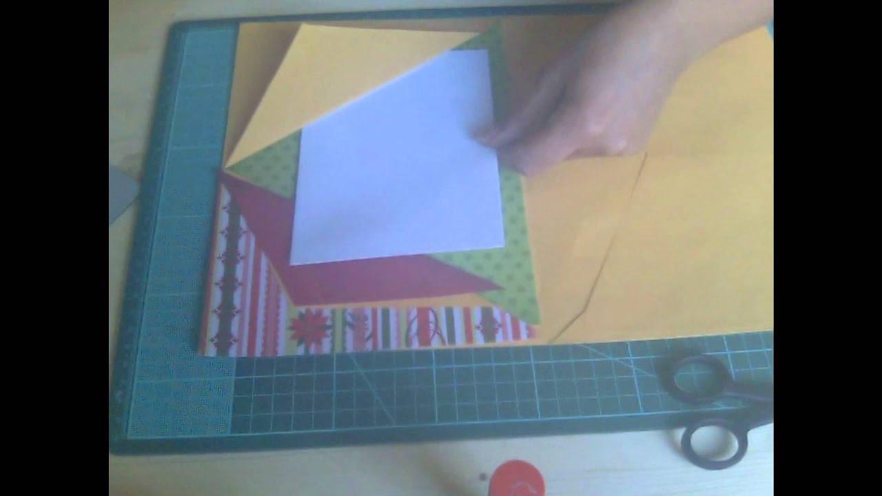Eccezionale Tutorial..come creare un album con le bustine da lettera.wmv - YouTube MT77