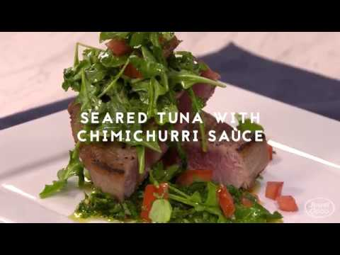 John Manion: Seared Tuna with Chimichurri Sauce