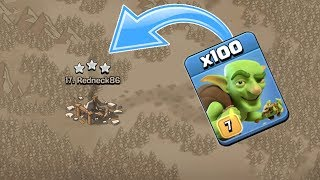 Unbelievable | TH10 3 Star With 100 Goblins | Clash of Clans - COC