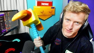 Tfue Shows His REAL LIFE PICKAXE (Pick Squeak Rare Pickaxe) | Fortnite Daily Funny Moments Ep.279