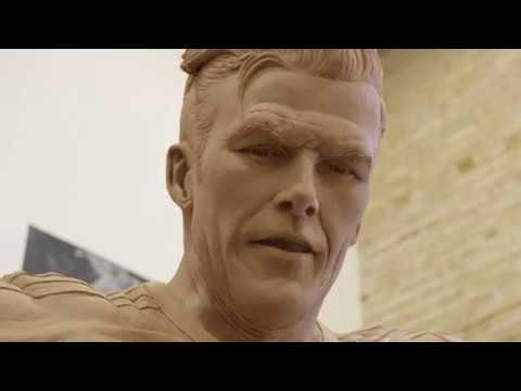 A Behind-the-Scenes Look at the making of David Beckham's statue   #BeckhamStatu