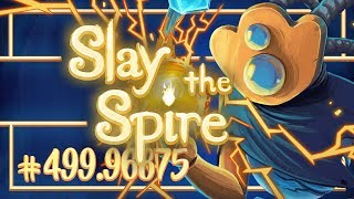 Let's Play Slay the Spire: Corrupt Heart | Defect Ascension 20 - Episode 499.96875