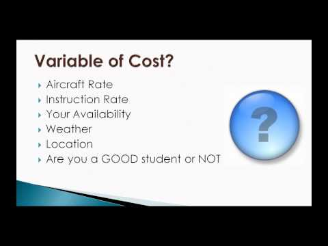 Pilot License Cost - How much should a pilot license cost!