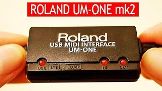 Roland UM-ONE mk2 tested with Roland JV-1010 & GM music
