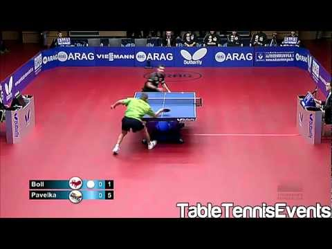 Timo Boll Vs Tomas Pavelka: Match 1 [German League 2012/2013]