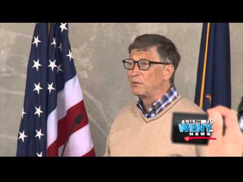 Bill Gates visits Cornell University to dedicate new Computer and Information Science Hall