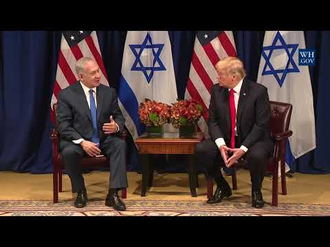 President Trump Participates in a Meeting with Prime Minister Benjamin Netanyahu of Israel