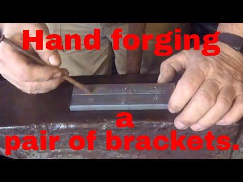 Hand forging a pair of brackets. Part1.