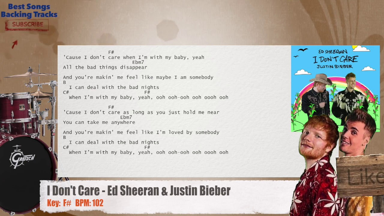 Ed Sheeran & Justin Bieber Drums Backing