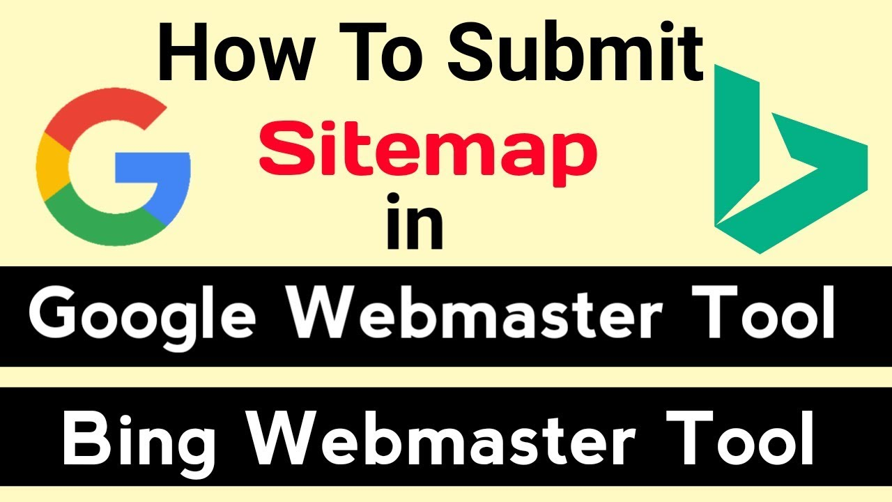 how to generate and submit sitemap to google bing webmaster tool