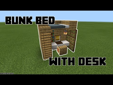How To Make A Bunk Bed With Desk Minecraft Mcpe Youtube,Best Paint For Bathrooms Walls