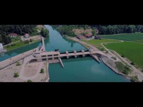 Switzerland DJI Mavic 4K Cinematic Bielerseekraftwerk Hagneck