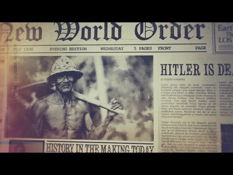 History On Newspaper After Effects Template Youtube