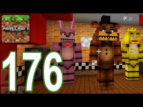Minecraft: PE - Gameplay Walkthrough Part 176 - Five Nights At Freddy's (iOS, Android)