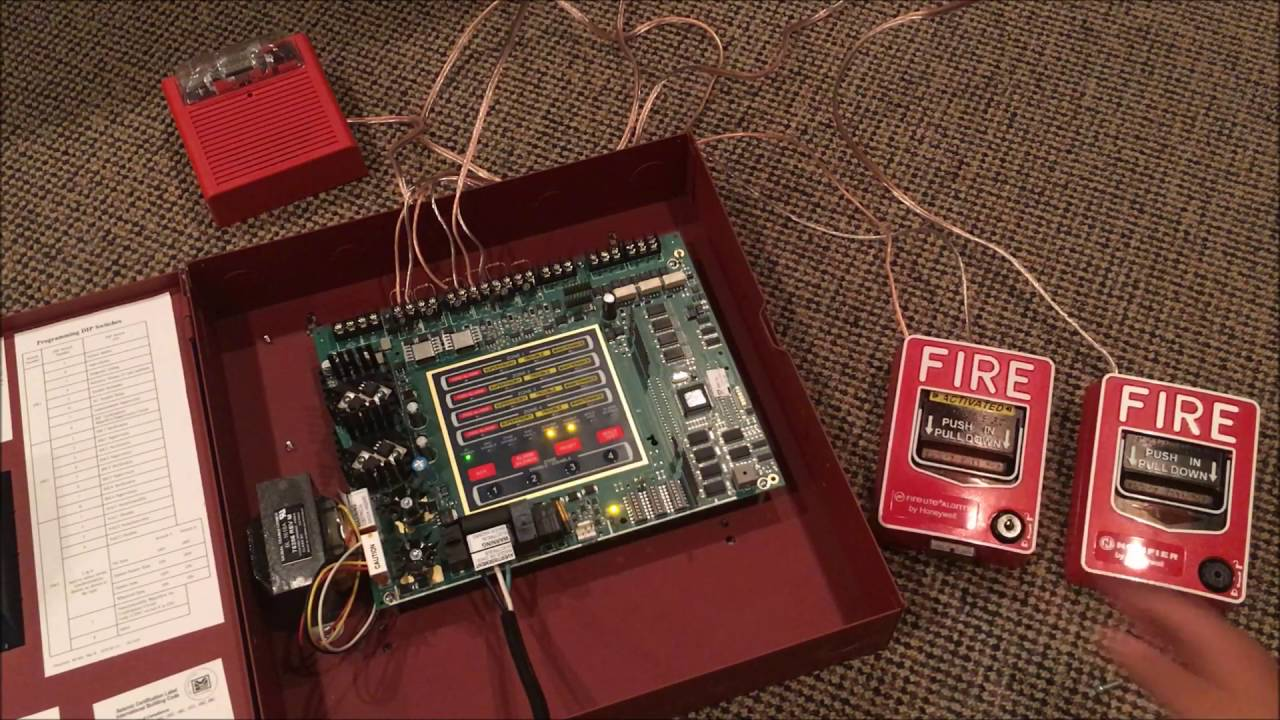 Unboxing And Startup Of My New Fire Alarm Control Panel Lite Signaling Line Circuit Wiring Manual Firelite Alarms Ms 4 Conventional