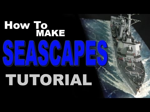How To Make Seascape scale model diorama tutorial