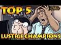 TOP 5 - Lustige Champions zu spielen - LOL German Deutsch S6 German Deutsch