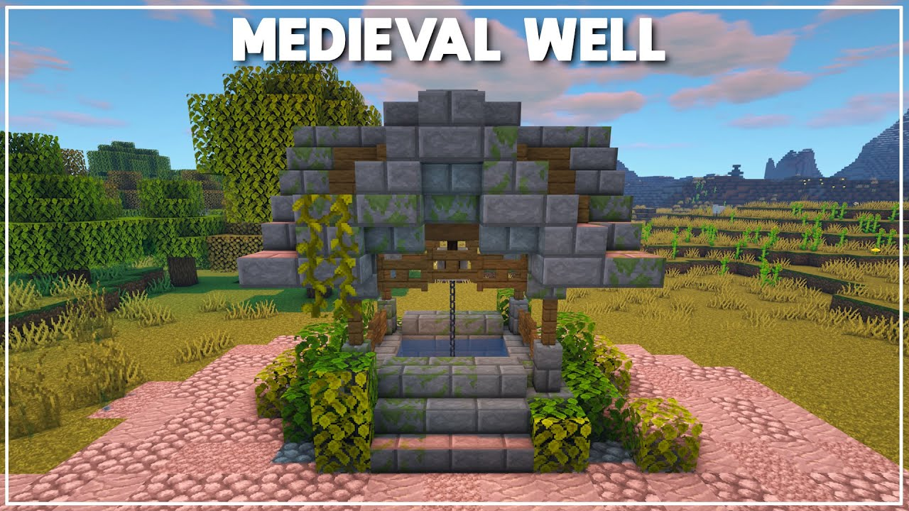 Minecraft: How to Build a Medieval Well [Tutorial] 7