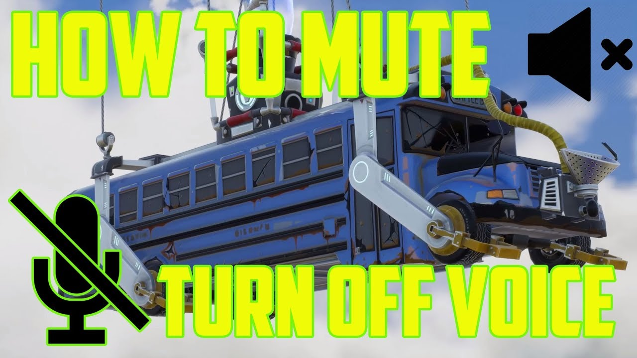 Mute Fortnite Chat PC, PS4, Switch and Xbox One