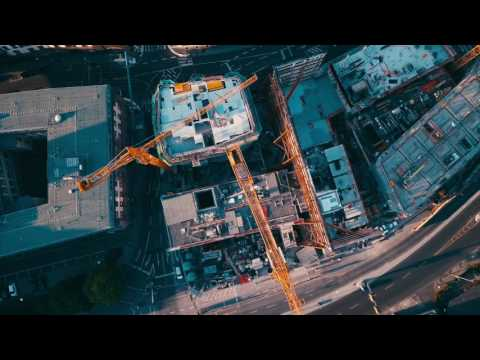 Frankfurt Skyline Sunrise MavicPro 4K SepterionFilms watch in HD1080